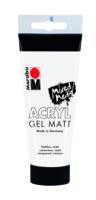 Marabu Gel acrylique, transparent mat 102, 100 ml