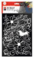 Marabu Art Stencil DIN A4 Blooming Garden