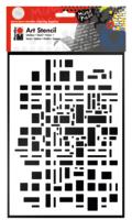 Marabu Art Stencil DIN A4 Graphic Pattern