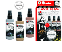 Marabu Fashion-Shimmer, Trend-Set CLASSIC GLAM, 3 x 100 ml