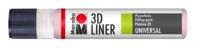 Marabu 3D-Liner, rose pastel 3D 627, 25 ml