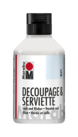 Marabu Decoupage & Serviette vernis et colle mat, 250 ml