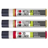 Marabu Metallic-Liner/ Glitter-Liner / 3D-Liner